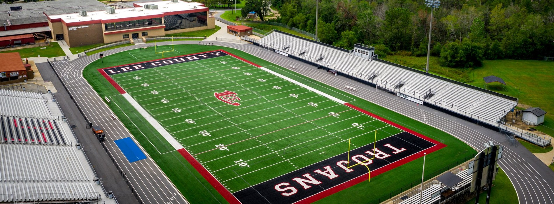 Aerial view of Trojan Stadium